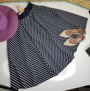 French Connection paneled skirt w/ shadow stripes